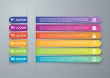 Infographics иллюстрации вектора 6 вариантов Стоковые Фотографии RF
