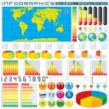 Элементы конструкции Infographics. Векторные графики Стоковые Фотографии RF