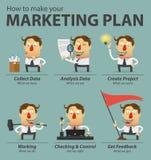 Infographics маркетингового плана Комплект персонажа из мультфильма Стоковая Фотография RF