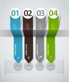 Infographics пронумеровало знамена можно использовать для плана потока операций, Стоковые Изображения