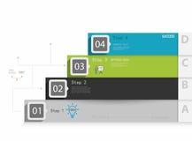 Infographics пронумеровало знамена можно использовать для плана потока операций, бесплатная иллюстрация