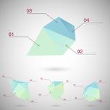 Infographics установило с полигональными геометрическими формами Стоковое Изображение