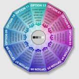 Infographics цвета вектора Шаблоны для диаграммы, диаграммы, представления и круглой диаграммы Концепция запуска дела Стоковые Изображения