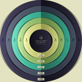 Infographics цели 3d вектора абстрактное Стоковое фото RF