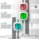 Infographics 3 шагов Стоковая Фотография