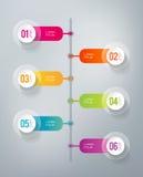 Infographics - 6 шагов Стоковые Фото