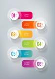 Infographics - 6 шагов Стоковая Фотография RF