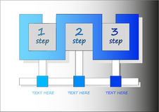 Infographics 3 шагов Стоковые Фотографии RF