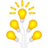 Infographics электрической лампочки иллюстрации бесплатная иллюстрация