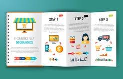 Infographics электронной коммерции плоское Стоковые Фото