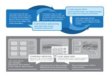 infographics集 库存照片
