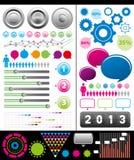 Infographics Stockfotografie