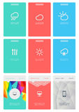 Infographics的元素与按钮和菜单的 免版税图库摄影