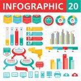 Элементы 20 Infographics Стоковые Фотографии RF