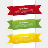 Infographics κορδελλών Στοκ εικόνα με δικαίωμα ελεύθερης χρήσης