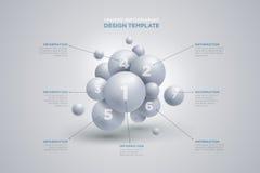 球形infographics模板 免版税库存图片