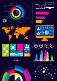 传染媒介Infographics 库存照片