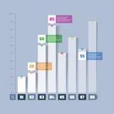 Диаграмма в виде вертикальных полос, элемент infographics диаграммы Стоковое Изображение