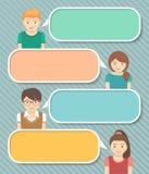 孩子文本的Infographics元素 免版税库存照片