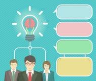 企业想法Infographics元素 免版税库存图片