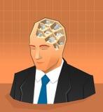 企业infographics人脑概念 库存照片