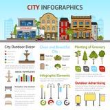 Σύνολο infographics πόλεων Στοκ Εικόνες