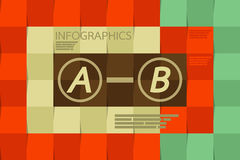 Infographics abstract background design Stock Photography
