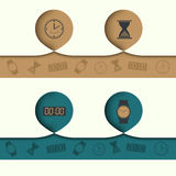 Infographics abstract element with icons and Royalty Free Stock Photography