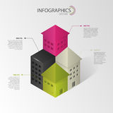 Infographics Abstract huis Vector illustratie Stock Fotografie