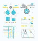 Infographics abstract presentation for business companies Stock Photo