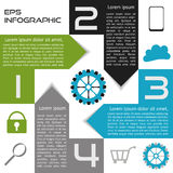 Infographics Abstract Square Options Four Choices. With Arrows Royalty Free Stock Photo