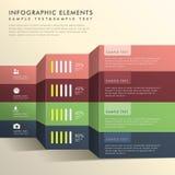 Infographics abstracto de la bandera Imágenes de archivo libres de regalías