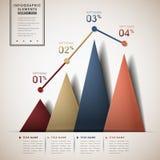 Infographics abstracto de la carta de la línea y del triángulo Fotos de archivo libres de regalías