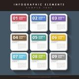 Infographics abstracto de la etiqueta stock de ilustración
