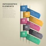 Infographics abstracto de la etiqueta de la papiroflexia Foto de archivo