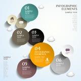 Infographics abstracto de la etiqueta del círculo libre illustration