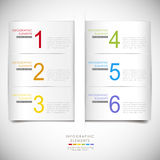 Infographics abstracto de la papiroflexia Imágenes de archivo libres de regalías