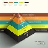 Infographics abstracto de la pirámide 3d