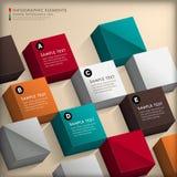 Infographics abstracto del cubo 3d ilustración del vector
