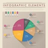 Infographics abstracto del gráfico de sectores Imagen de archivo libre de regalías