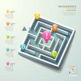 Infographics abstracto del laberinto 3d del vector Foto de archivo libre de regalías