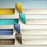 Infographics abstracto del papel 3d Foto de archivo libre de regalías