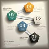 Infographics abstracto del papel 3d Imágenes de archivo libres de regalías