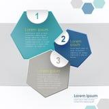 Infographics abstracto del papel 3d del vector Foto de archivo libre de regalías