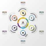 Infographics abstracto Plantilla del diseño moderno con los círculos Vector Foto de archivo libre de regalías