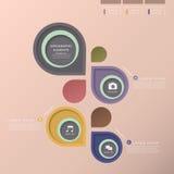 Infographics abstrait d'étiquette Image stock