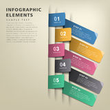 Infographics abstrait d'étiquette d'origami Photo stock
