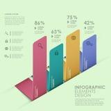 Infographics abstrait d'histogramme illustration de vecteur