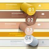 Infographics abstrait de bannière Photographie stock libre de droits