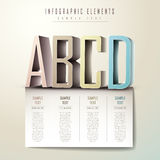 Infographics abstrait de l'alphabet 3d Images stock